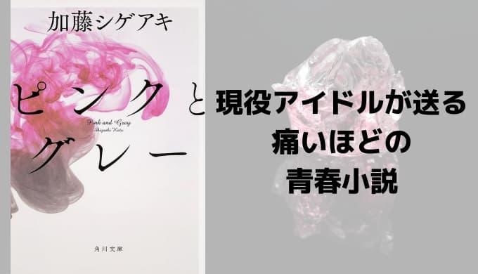 『ピンクとグレー』あらすじと感想【現役アイドルが送る痛いほどの青春小説】