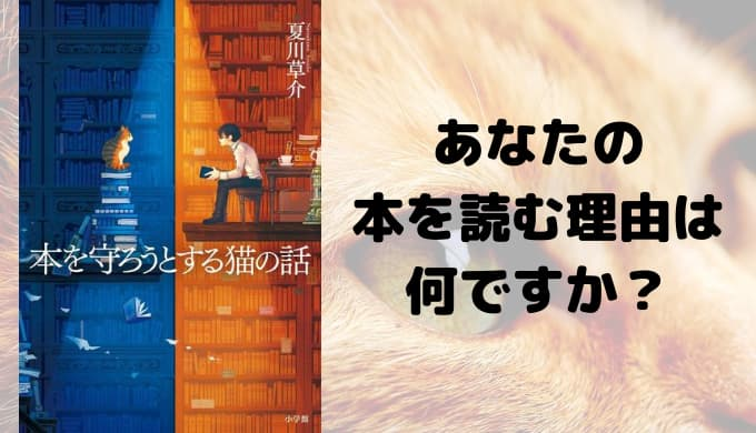 『本を守ろうとする猫の話』あらすじと感想【読書嫌いな人にこそ読んで欲しい!あなたの本を読む理由は何ですか?】