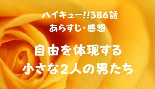 ハイキュー!! ネタバレ最新話386話感想【自由を体現する小さな2人の男たち】