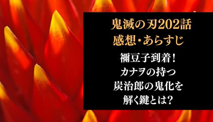 鬼滅の刃 ネタバレ最新話202話感想【禰豆子到着!カナヲの持つ炭治郎の鬼化を解く鍵とは?】