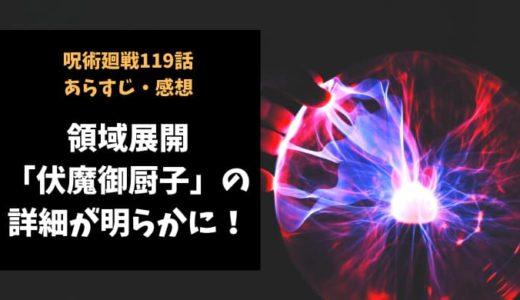 呪術廻戦 ネタバレ119話感想【領域展開「伏魔御厨子」の詳細が明らかに!】