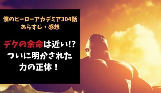 ヒロアカ ネタバレ304話感想【デクの余命は近い!?ついに明かされた力の正体!】