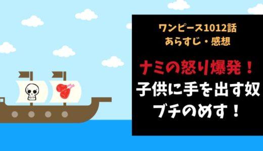 ワンピース ネタバレ1012話感想【ナミの怒り爆発!子供に手を出す奴はブチのめす!】